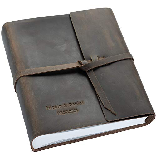 Polaroid Wedding Album with Pockets - Crazy Horse Leather Guestbook