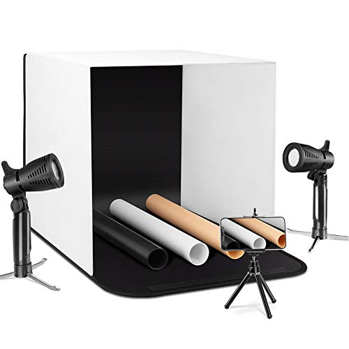 ESDDI Photo Light Box with 3 Color Backdrop for Jewellery Product Advertising