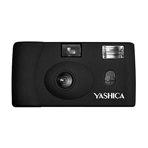YASHICA MF-1 Snapshot Art 35mm Film Camera Set (Black)