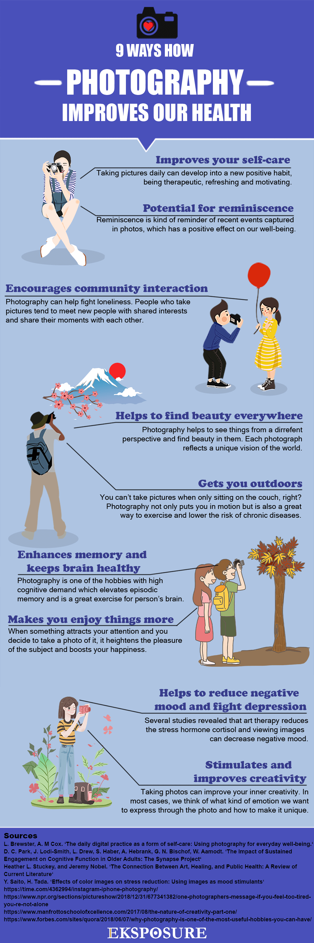 health benefits of photography infographic