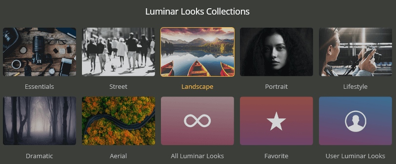 luminar 4 looks collections